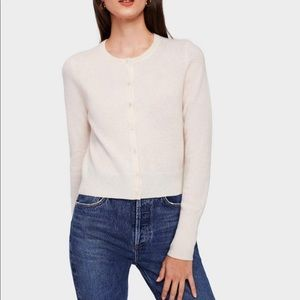 White+Warren essential cashmere crewneck cardigan